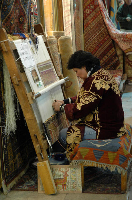 Hard Work on Antique Rugs