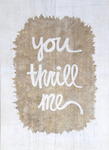 Tanya Nolan - You Thrill Me, 2014 - Fabric Paint on Vintage Kilim
