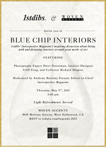 Join 1stdibs & Woven Accents May 9th at 3pm: LEGENDS 2013 Keynote