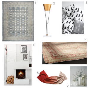 Holiday Design Rug Inspiration Board
