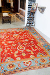 Antique Red Oushak Rug